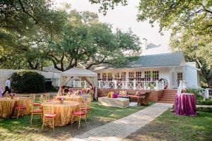 Sequin Table Linens Backyard Reception Decor