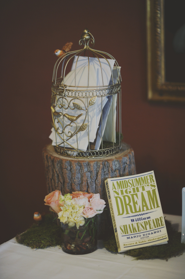 Shakespeare Themed Wedding Guest Table