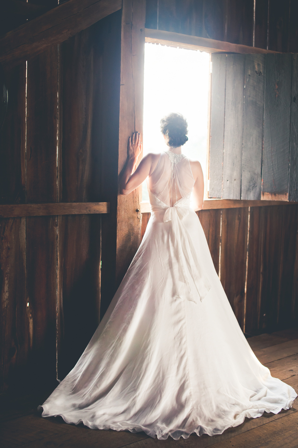 Sheer Open Back on Bridal Gown