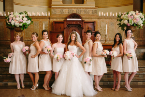 Short Light Taupe Bridesmaids Dresses