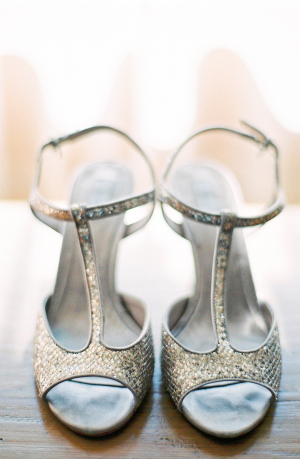 Silver T Strap Shoes