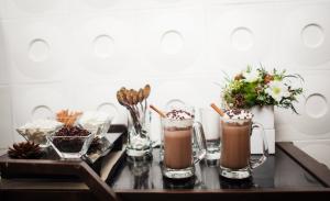 Smores and Hot Chocolate Bar at Reception