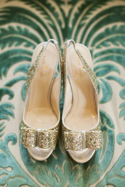 Sparkly Gold Kate Spade Heels