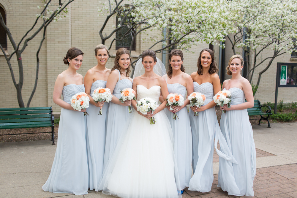 Strapless Ice Blue Bridesmaids Dresses Elizabeth Anne