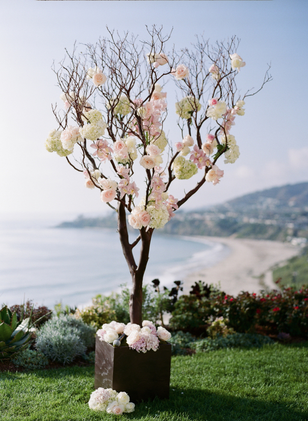 tree branch decorations wedding tree branches with roses ceremony decor elizabeth 8055