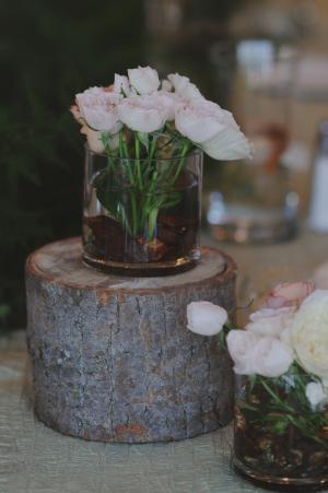 Tree Stump Base for Flowers