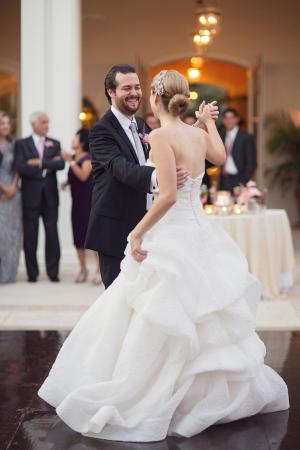 V Back Strapless Bridal Gown With Full Skirt