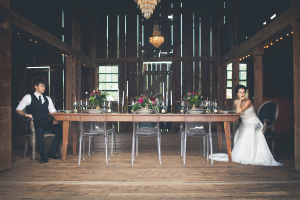 Vintage Barn Reception Decor