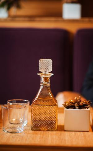 Vintage Crystal Bourbon Decanter
