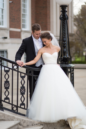 Wedding Gown With Tulle Ball Skirt