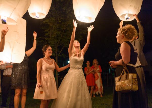 Wish Lantern Release Wedding