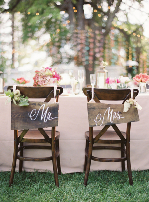 Wooden Calligraphy Wedding Signs