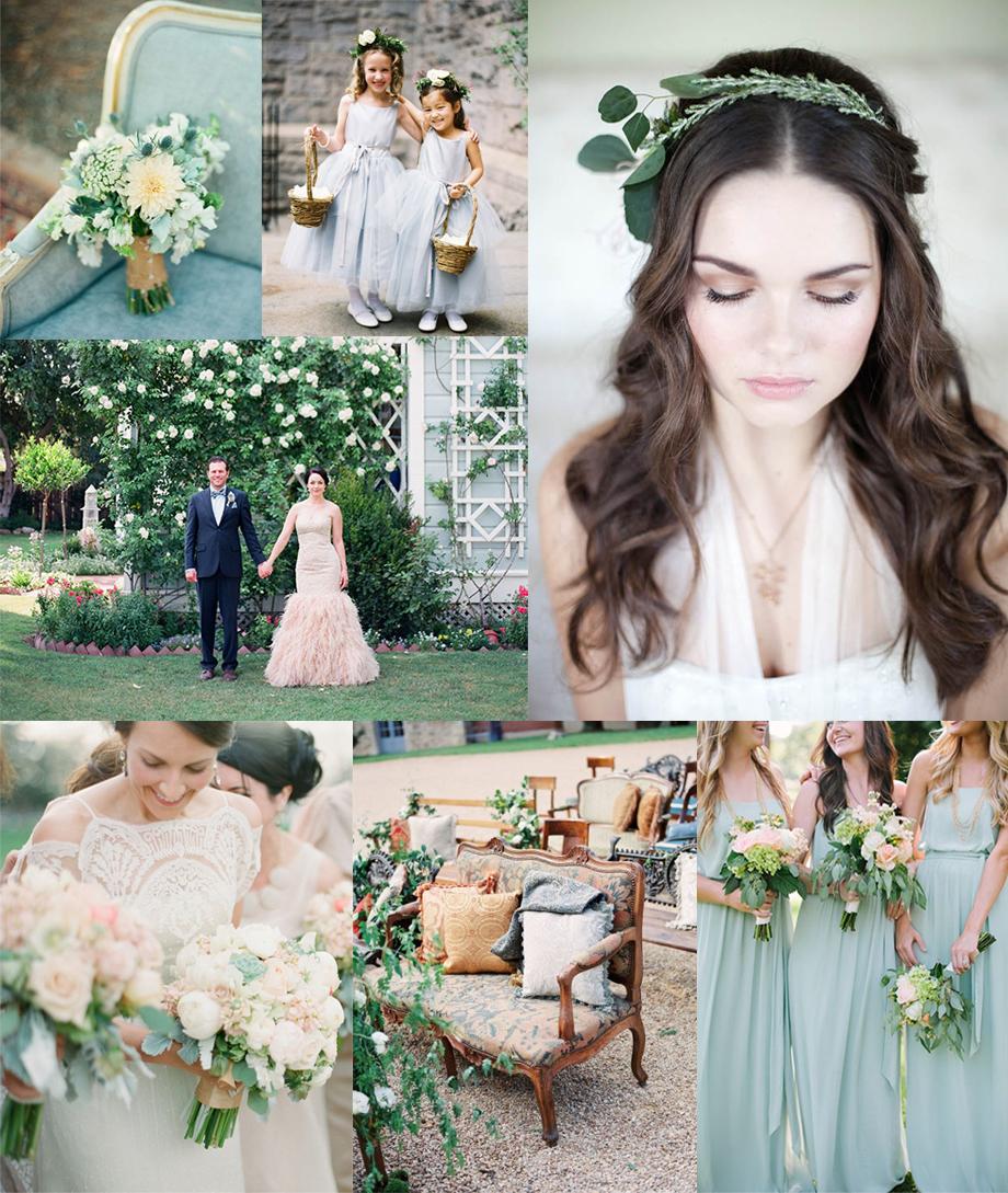 Woodland Robins Egg Blue Green Wedding