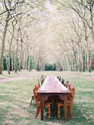 Lilac Wedding Reception Tables