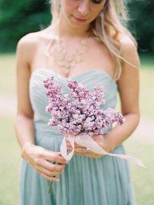 Simple Lilac Wedding Bouquet