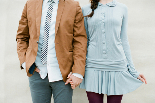 Baby Blue Engagement Session Outfit