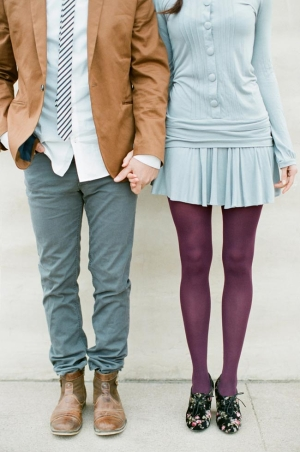 Baby Blue and Plum Fashion