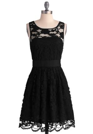 Black Lace Bridesmaids Dress