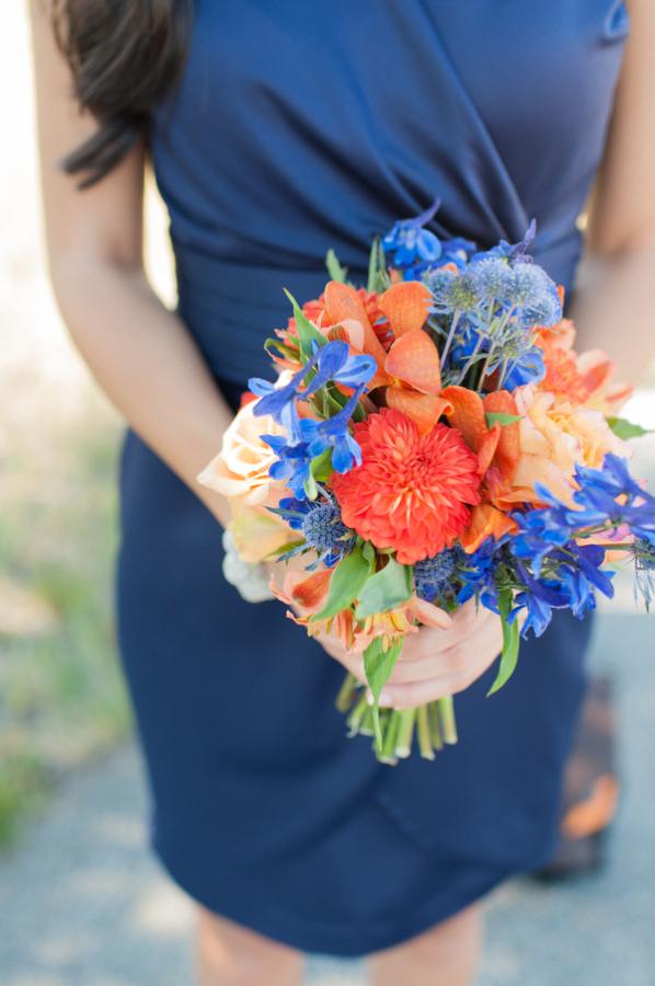 Blue and Orange Brides...