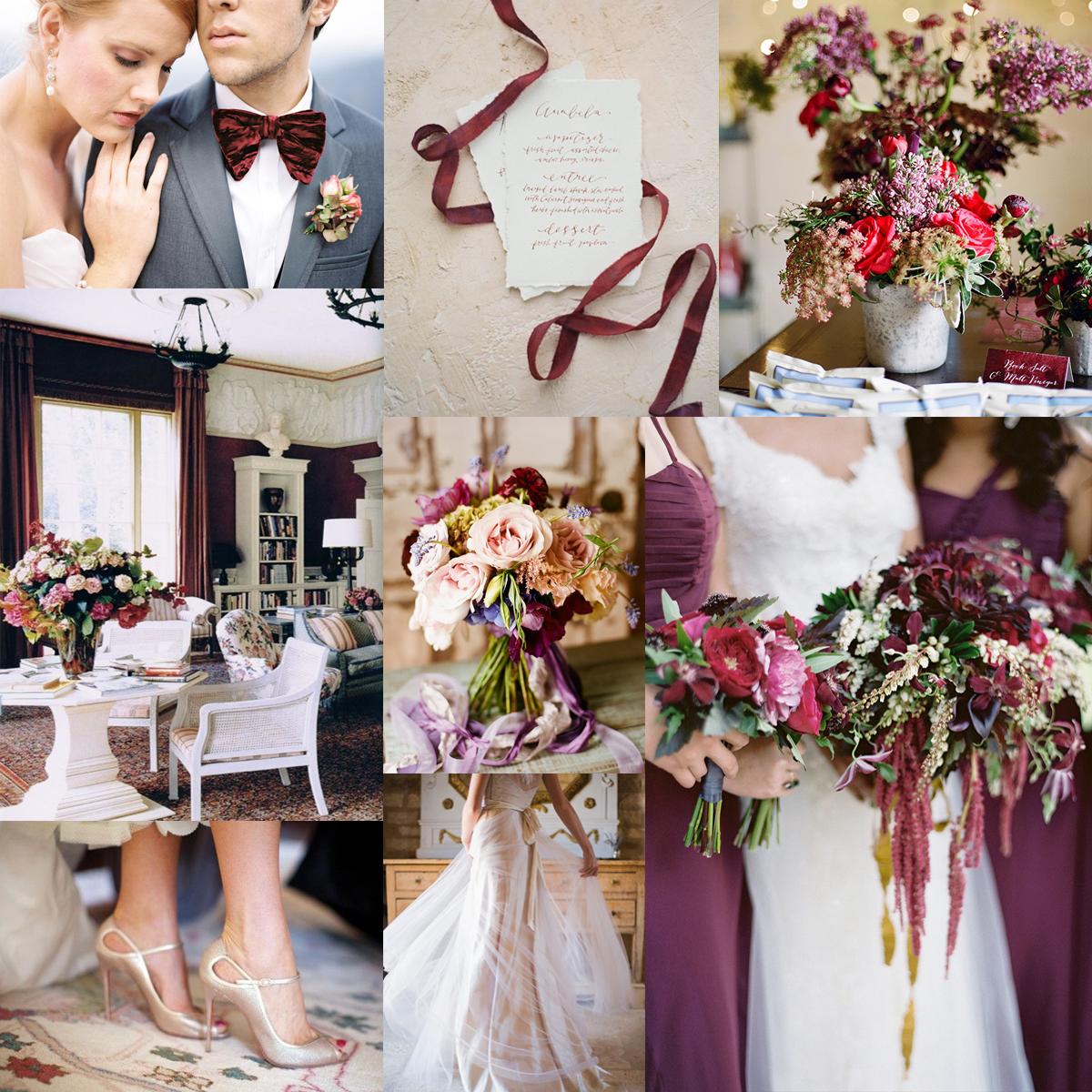 Bordeaux And Plum Wedding Colors