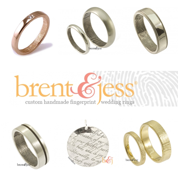 Wedding Bands With Fingerprints