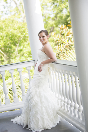 Bridal Portrait on Porch From Richard Ellis Photography