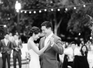 Bride and Groom on Outdoor Dance Floor