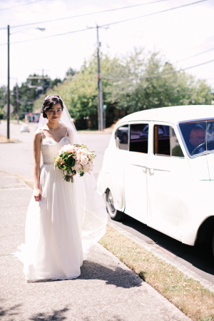 Bride in Hayley Paige Gown