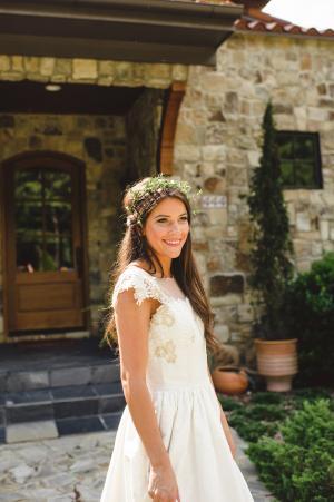 Bride in Herb Wreath