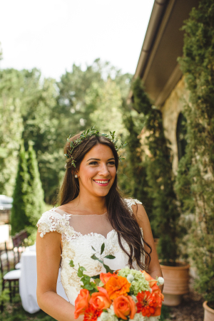 Bride in Olive Wreath