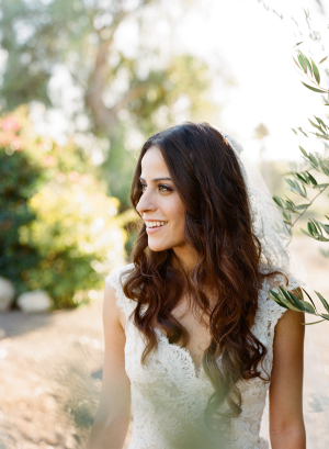 Bride with Long Wavy Hair