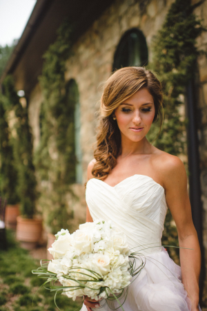 Bride with Sideswept Ponytail