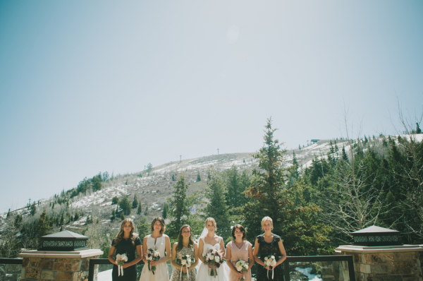 Bridesmaids in Sparkly Dresses