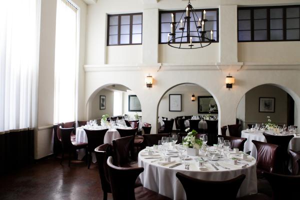 Brown White Los Angeles Restaurant Wedding