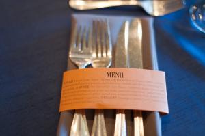 Brown and Orange Reception Table Decor