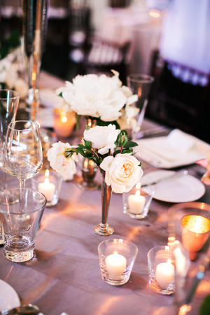 Candlelight and Rose Reception Decor