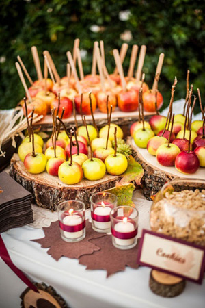 Candy Apple Dipping Station