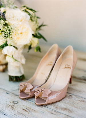 Christian Louboutin Taupe Patent Heels