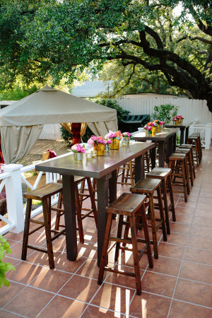 Colorful Outdoor Cocktail Table