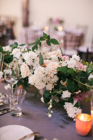 Cream and Green Reception Florals