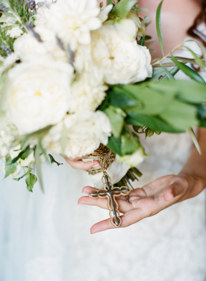 Cross on Bouquet