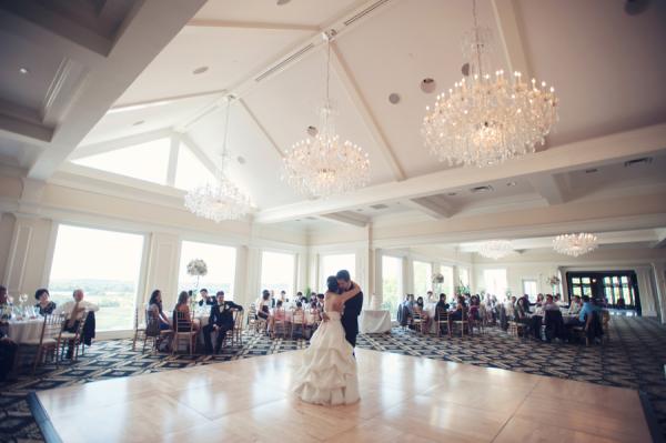 Crystal Chandeliers Over Dance Floor Reception Venue Ideas