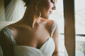 Delicate Cap Sleeve Bridal Gown