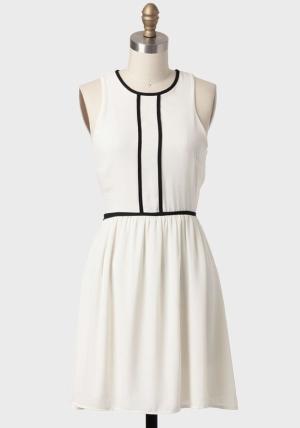Delicate White and Black Dress