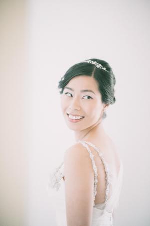 Detailed Spaghetti Straps on Bridal Gown