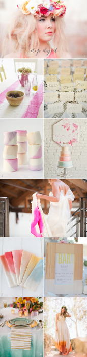 Dip Dyed Wedding Inspiration