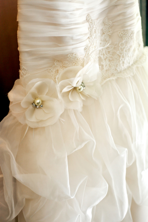 Drop Waist Detailing on Bridal Gown