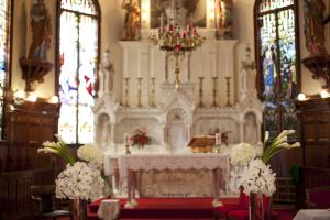 Elaborate Catholic Church Altar