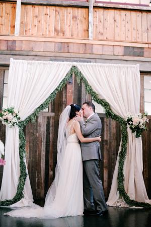Elegant Barn Wedding Ceremony