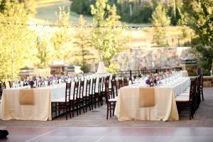Elegant Cream and Lavender Reception Decor